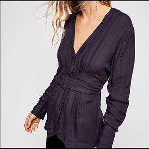 Free People   back in the spotlight belted shirt